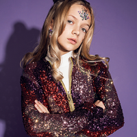 The Fever of The Night Sequin Zip Up - Kate Hill