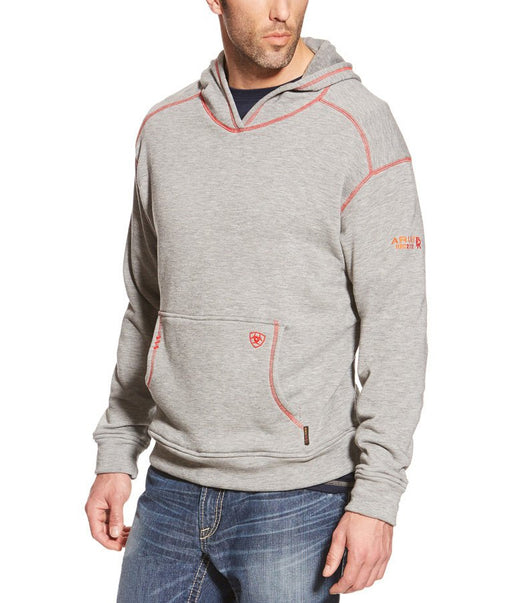 FR Polartec Heather Grey Hoodie