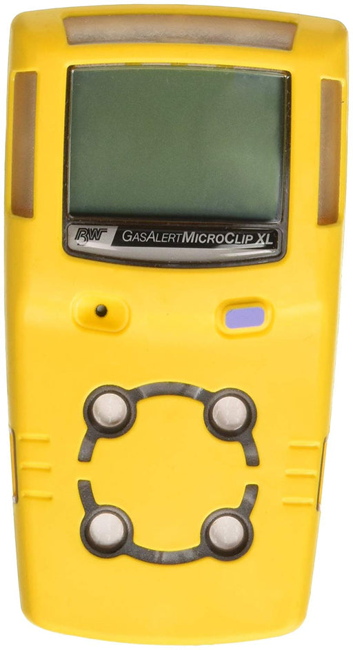 BW MCXL-XWHM-Y-NA GasAlertMicroClip XL 4 Gas Detector, CO, H2S, LEL and O2, Yellow