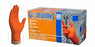 Gloveworks® Heavy-Duty Orange Nitrile Gloves