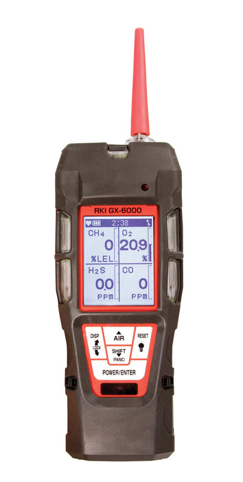 RKI GX-6000 PID Gas Monitor, O2, CO, H2S, VOC and Super Toxic Sensors