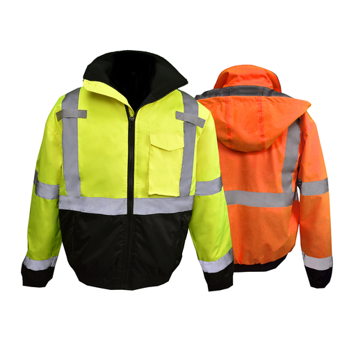 SJ11QB-3Z Class 3 Hi-Viz Weather Proof Bomber Jacket
