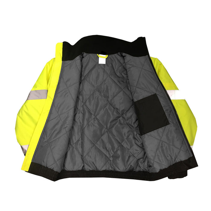 SJ11QB-3Z Class 3 Hi-Viz Weather Proof Bomber Jacket - inside view