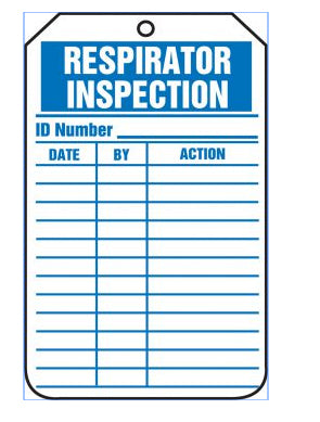 Respirator Equipment Safety Tags