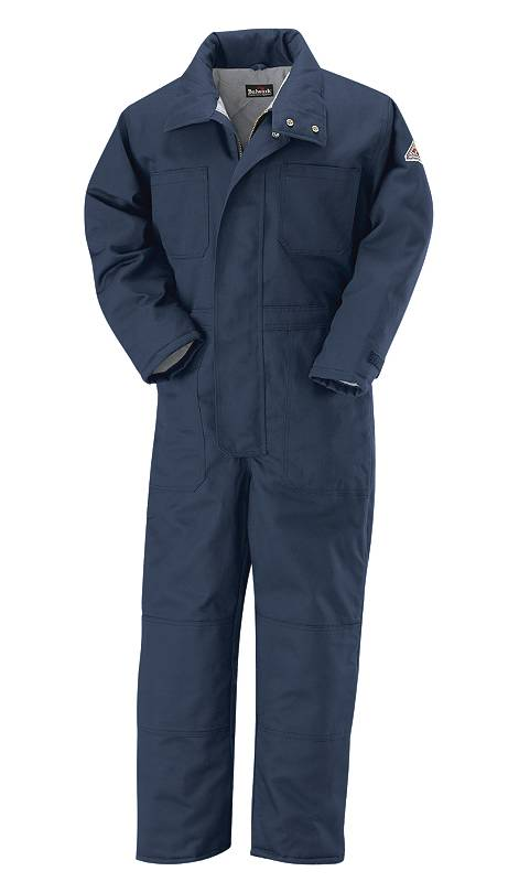 Flame-Resistant EXCEL FR® 7 oz. Insulated Coveralls - Navy