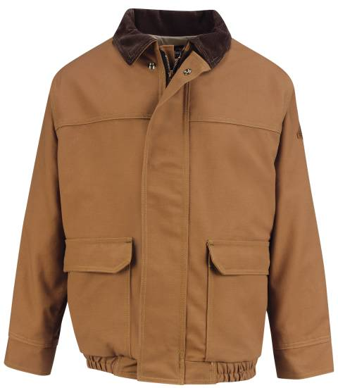 EXCEL FR® ComforTouch® Brown Duck-Lined Bomber Jacket