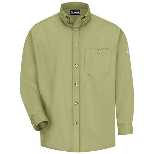 Men's Flame-Resistant Button-Front Dress Uniform Shirt