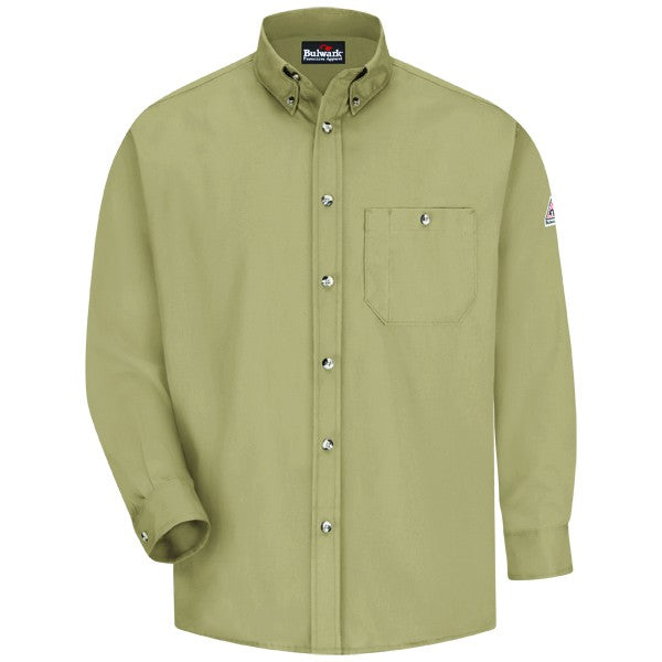 Men's Flame-Resistant Button-Front Dress Uniform Shirt, Men's Work-Dry Lightweight Twill Shirt, FLAME RESISTANT SHIRT, FR WORK CLOTHES, FR SHIRT, FLAME RESISTANT LONG SLEEVED SHIRT, FLAME RESISTANT CLOTHES, FR LONG SLEEVE