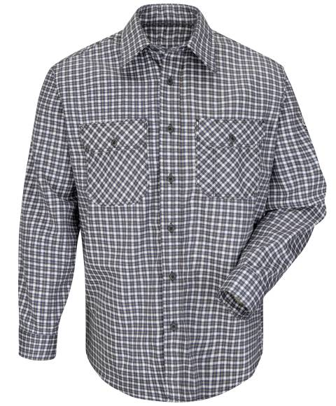 EXCEL FR® ComforTouch® Plaid Long Sleeve Shirts