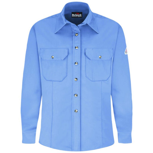 Light Blue EXCEL FR® ComforTouch® Dress Uniform Shirts, FLAME RESISTANT SHIRT, FR WORK CLOTHES, FR SHIRT, FLAME RESISTANT LONG SLEEVED SHIRT, FLAME RESISTANT CLOTHES, FR LONG SLEEVE