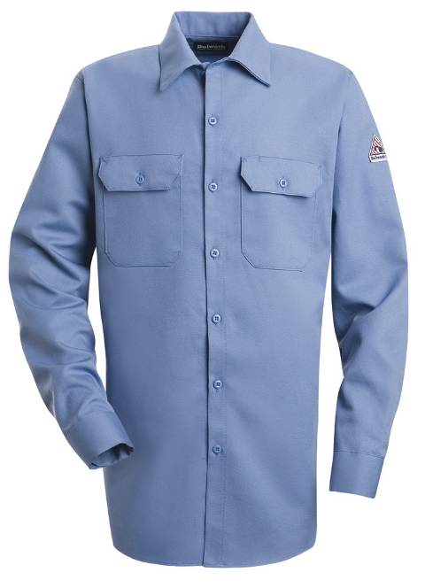 EXCEL FR® ComforTouch® Button-Front Work Shirt