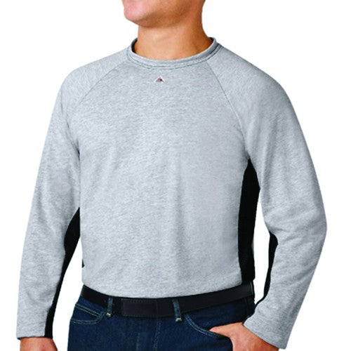 Bulwark FR EXCEL FR® Long Sleeve Two-Tone Base Layer Undergarment,  FLAME RESISTANT SHIRT, FR WORK CLOTHES, FR SHIRT, FLAME RESISTANT LONG SLEEVED SHIRT, FLAME RESISTANT CLOTHES, FR LONG SLEEVE