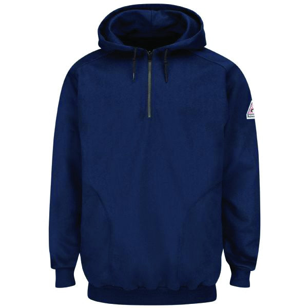Bulwar FR 1/4 Zip Pullover Hooded Fleece Sweatshirt, fr hoodie, fr sweatshirt, fr outerwear