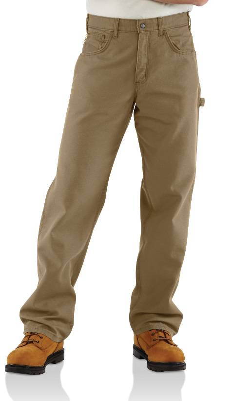 Flame-Resistant Loose Fit, Mid-Weight Canvas Jeans - Golden Khaki