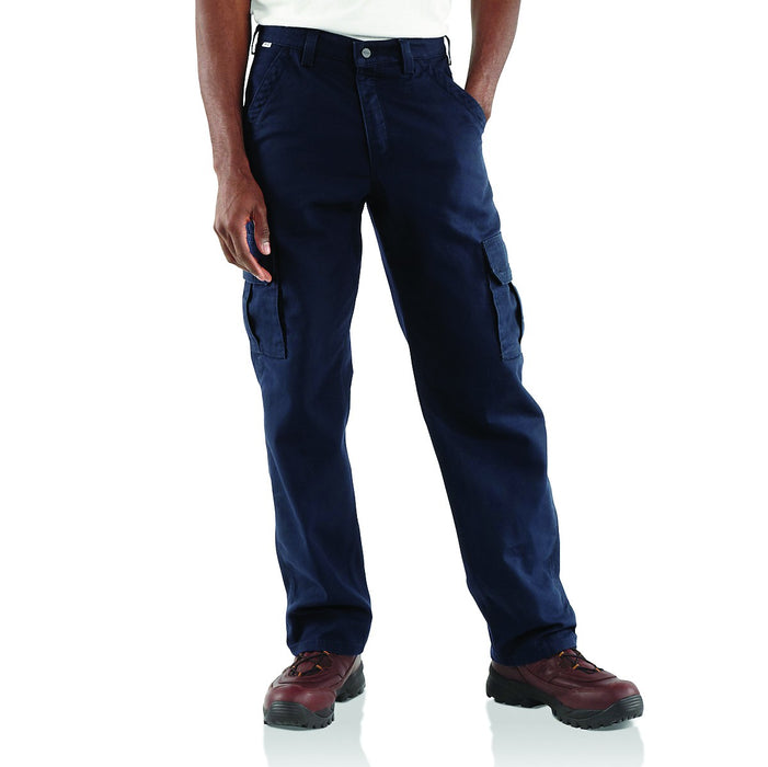 Men's FR Canvas Cargo Pants - Dark Navy & Khaki