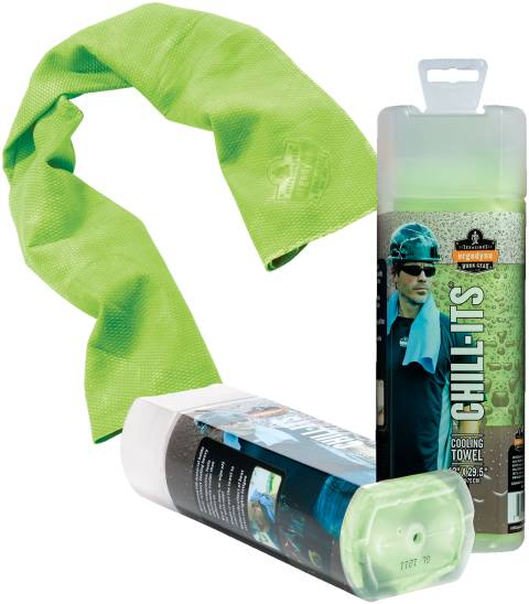 Chill-Its® 6602 Cooling Towels, hi vis lime