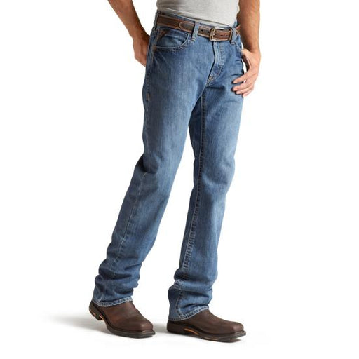 M4 Flame-Resistant Relaxed Waist, Boot Cut Denim Jeans - Flint