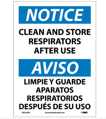 NOTICE PPE Safety Sign, Bilingual