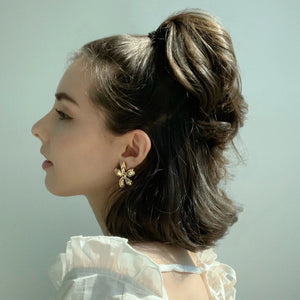 Flora Golden Earrings - Twice Shy