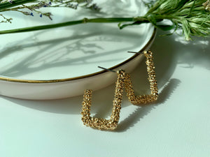 Bridget Rectangular Hoops - Twice Shy