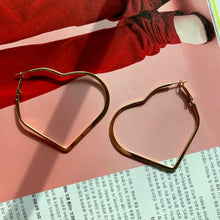Load image into Gallery viewer, Elisa in Love Heart Hoops - Twice Shy