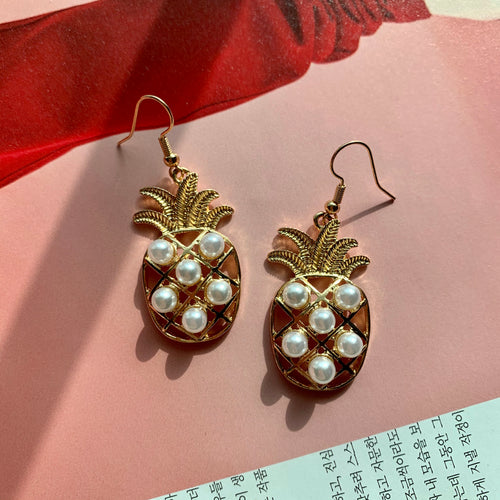 Naomi Pineapple Drop Earrings - Twice Shy