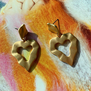 Madeline Heart Earrings - Twice Shy