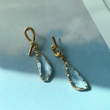 Load image into Gallery viewer, Kiera Asymmetrical Crystal Earrings - Twice Shy