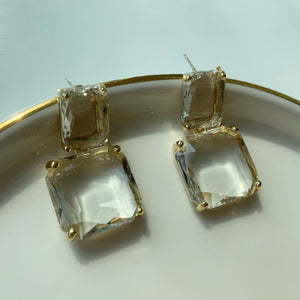 Alessandra Geo Crystal Earrings - Twice Shy