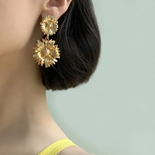 Emilia Floral Drop Earrings - Twice Shy