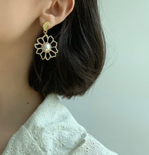 Load image into Gallery viewer, Daisy Drop Earrings - Twice Shy