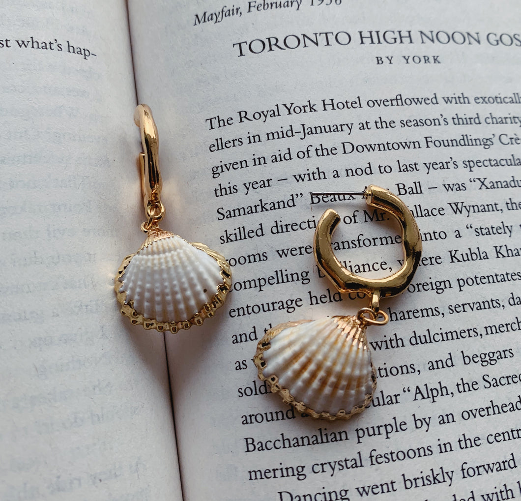 Blair Drop Shell Earrings - Twice Shy
