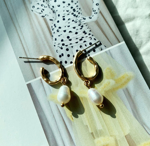 Sienna Pearl Earrings - Twice Shy