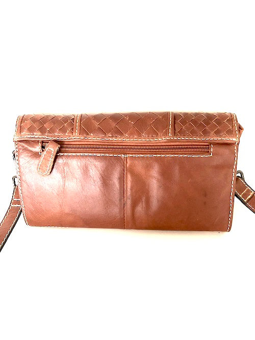 SARAH -CLUTCH/WALLET TAN