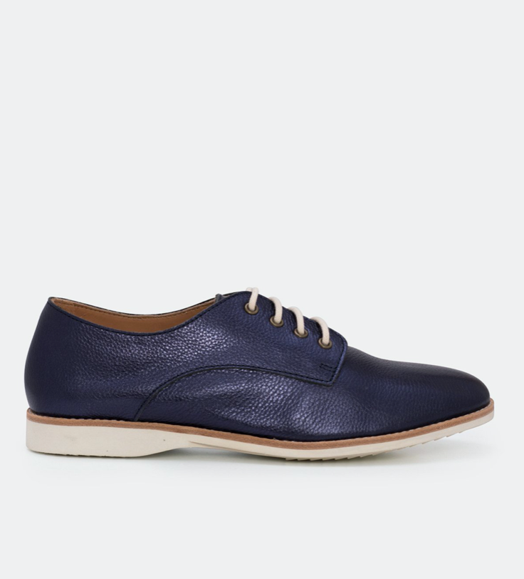 DERBY - NAVY METALLIC SOFT