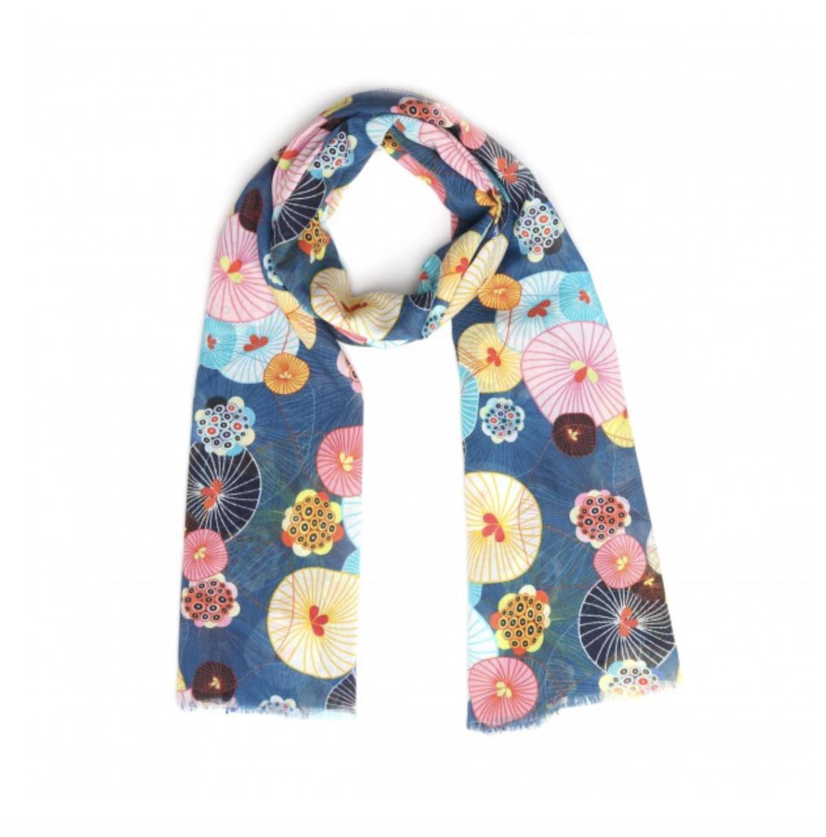 SCARF - BLUE LOTUS