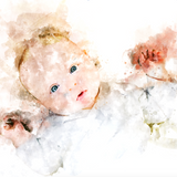 Adult/Child Watercolor Portrait
