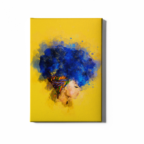 Blueberry Afro Puff | Canvas