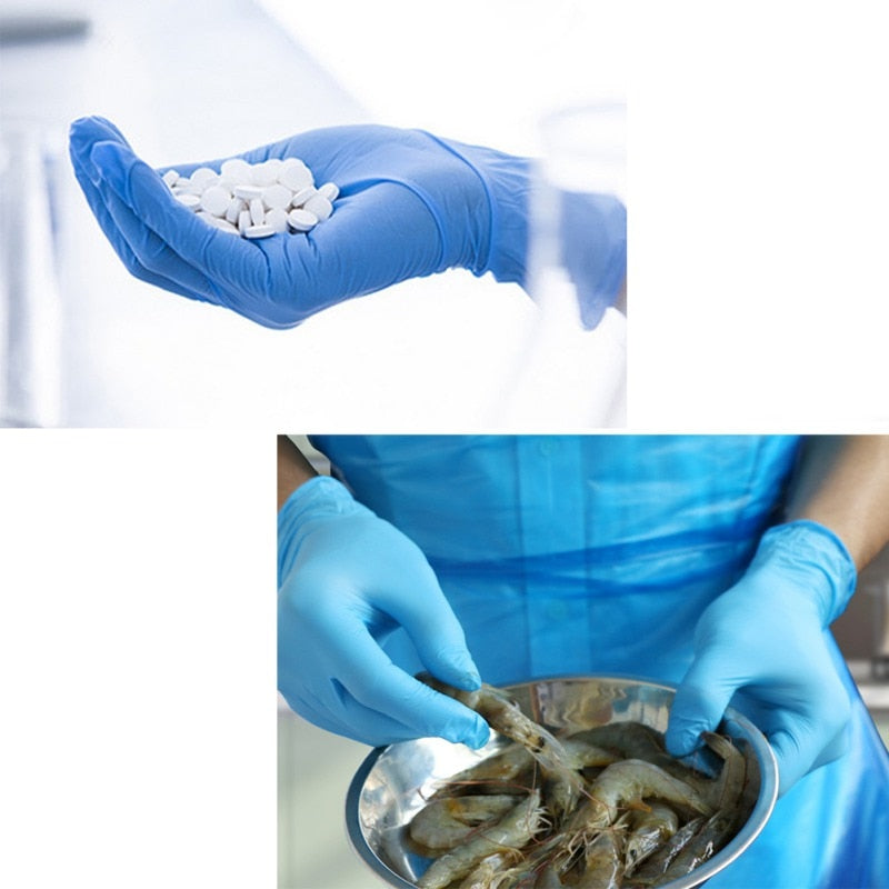 100pcs Superior Blue Nitrile Disposable Gloves | Smart Outdoor Store