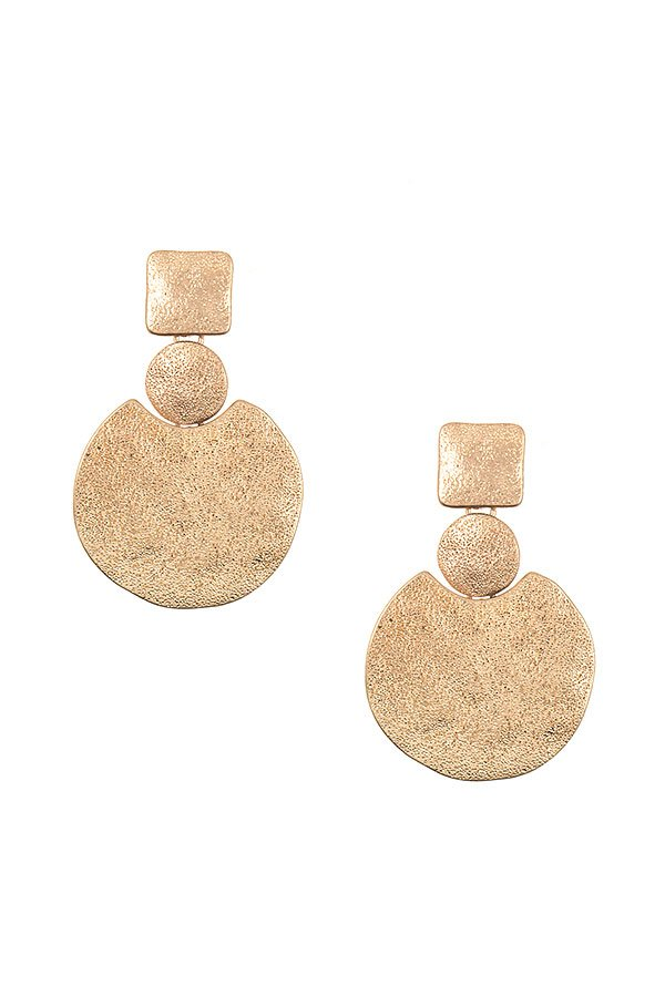 Punched Detailed Disk Drop Earring