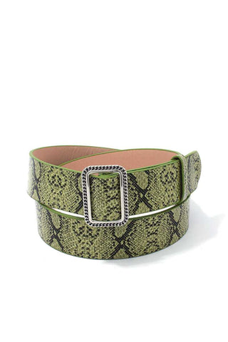 Snake Pattern Pu Leather Belt