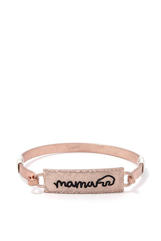 Mama Bear Metal Bar Bracelet