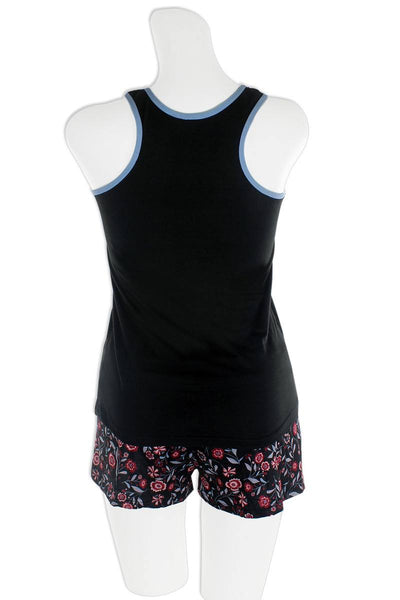Knit Racerback Tank With Printed Shorts Set