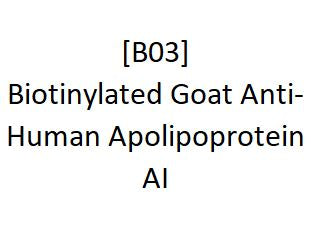[B03] Biotinylated Goat Anti-Human Apolipoprotein AI, Academy Bio-medical Company, Inc.