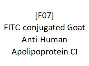 [F07] FITC-conjugated Goat Anti-Human Apolipoprotein CI, Academy Bio-medical Company, Inc.