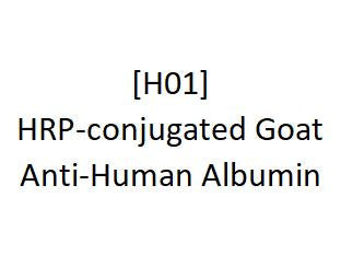 [H01] HRP-conjugated Goat Anti-Human Albumin - AcademyBiomed