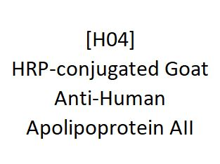 [H04] HRP-conjugated Goat Anti-Human Apolipoprotein AII, Academy Bio-medical Company, Inc.