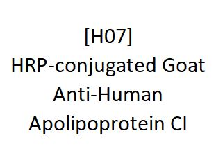 [H07] HRP-conjugated Goat Anti-Human Apolipoprotein CI, Academy Bio-medical Company, Inc.