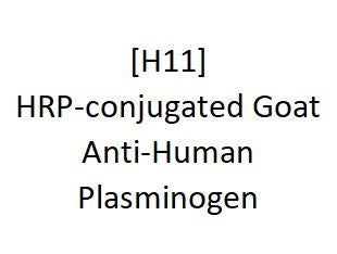[H11] HRP-conjugated Goat Anti-Human Plasminogen, Academy Bio-medical Company, Inc.
