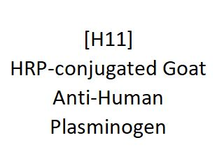 [H11] HRP-conjugated Goat Anti-Human Plasminogen - AcademyBiomed